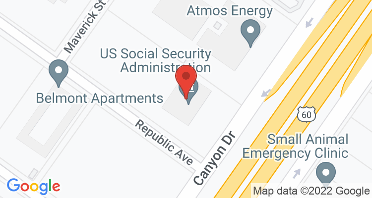Amarillo, TX Social Security Office Map