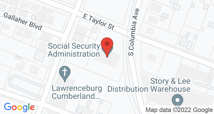 Lawrenceburg, TN Social Security Office Map