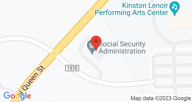 Kinston, NC Social Security Office Map