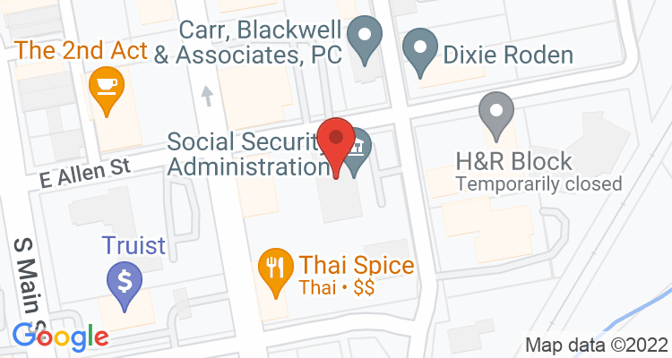 Hendersonville, NC Social Security Office Map