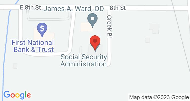 Okmulgee, OK Social Security Office Map