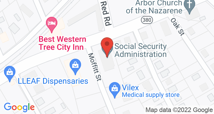 Mcminnville, TN Social Security Office Map