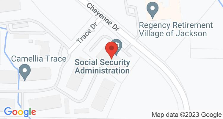 Jackson, TN Social Security Office Map