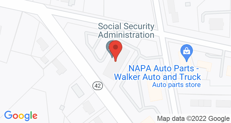Asheboro, NC Social Security Office Map