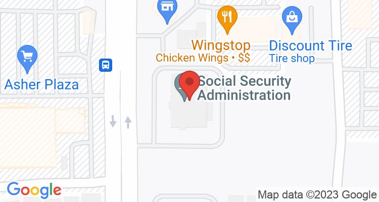 North Las Vegas, NV Social Security Office Map