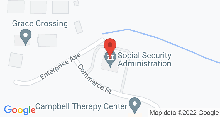 Paris, TN Social Security Office Map