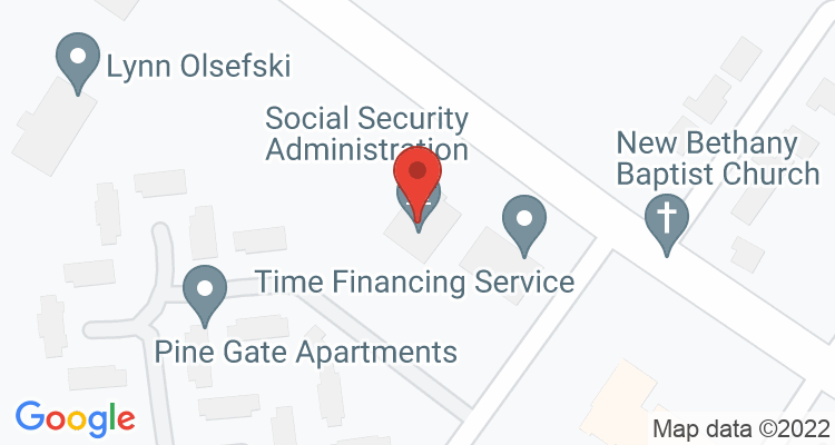 Ahoskie, NC Social Security Office Map