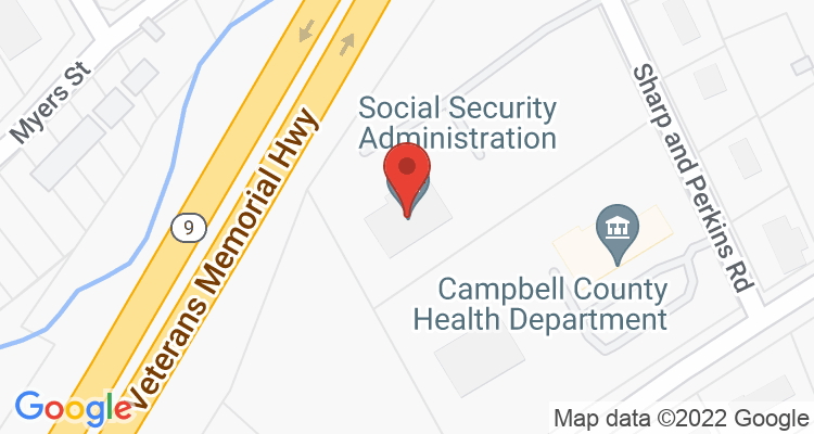 Jacksboro, TN Social Security Office Map
