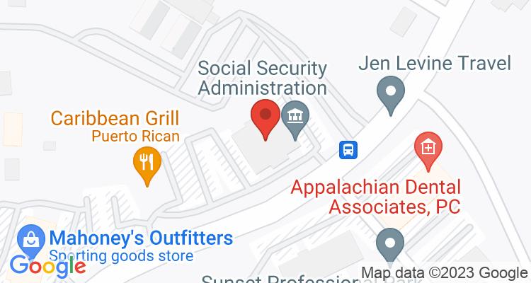 Johnson City, TN Social Security Office Map