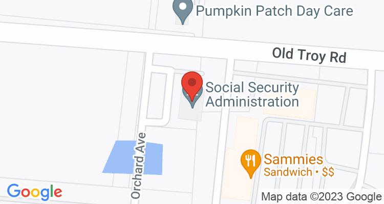 Union City, TN Social Security Office Map