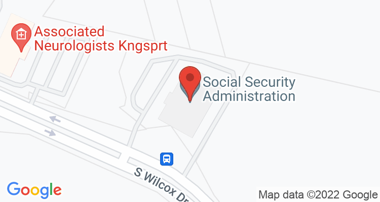 Kingsport, TN Social Security Office Map