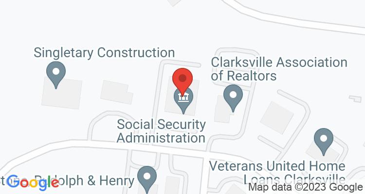 Clarksville, TN Social Security Office Map