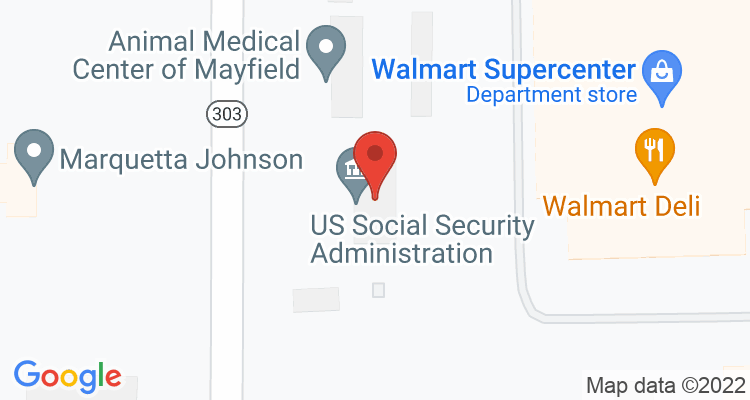 Mayfield, KY Social Security Office Map