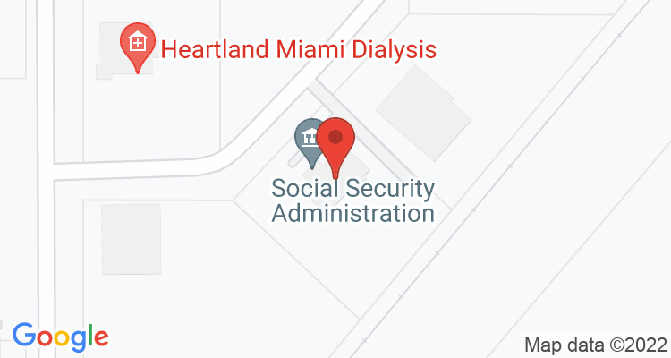 Miami, OK Social Security Office Map
