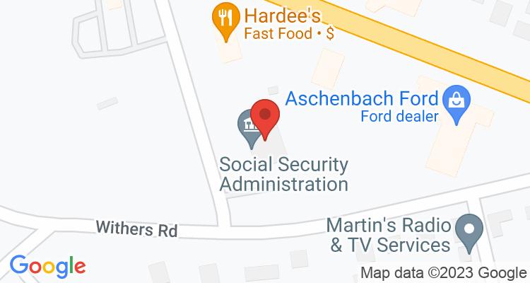 Wytheville, VA Social Security Office Map