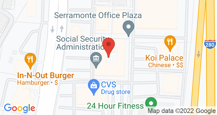 Daly City, CA Social Security Office Map
