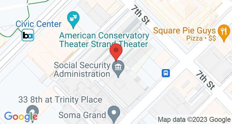 San Francisco, CA Social Security Office Map