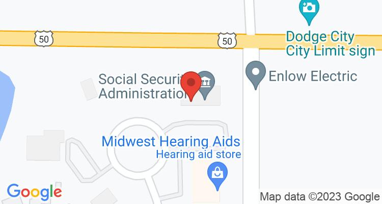 Dodge City, KS Social Security Office Map