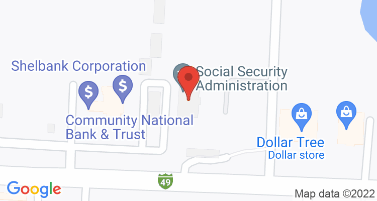 Nevada, MO Social Security Office Map