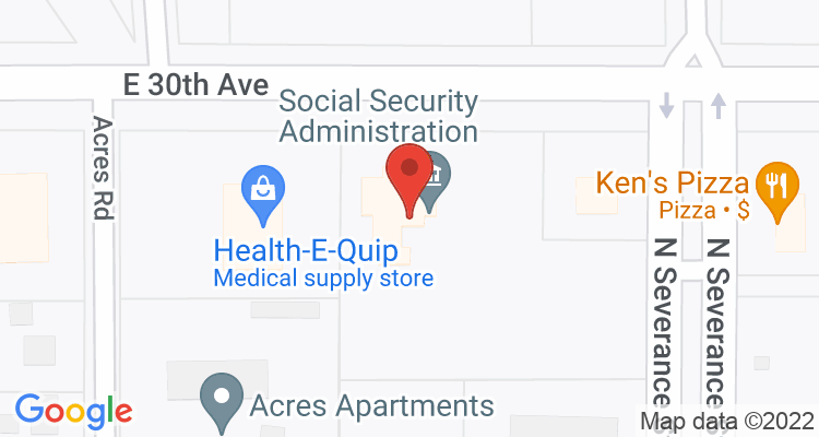 Hutchinson, KS Social Security Office Map