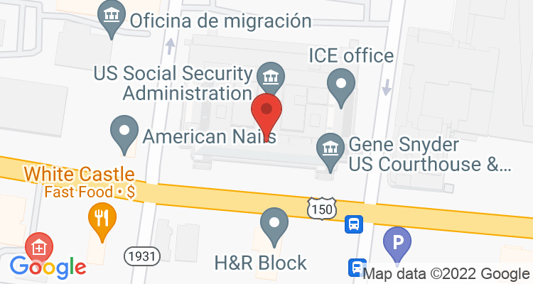 Louisville, KY Social Security Office Map