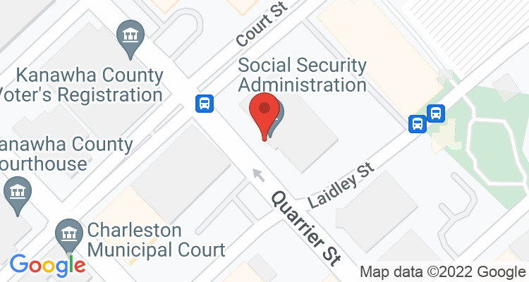 Charleston, WV Social Security Office Map