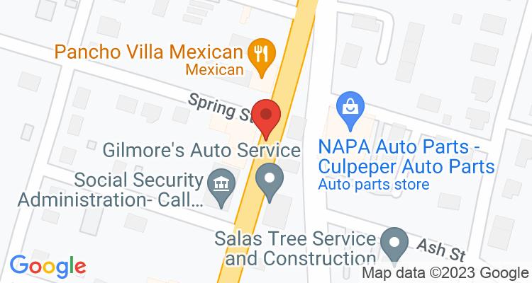 Culpeper, VA Social Security Office Map