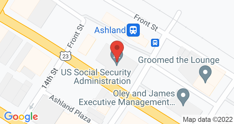 Ashland, KY Social Security Office Map