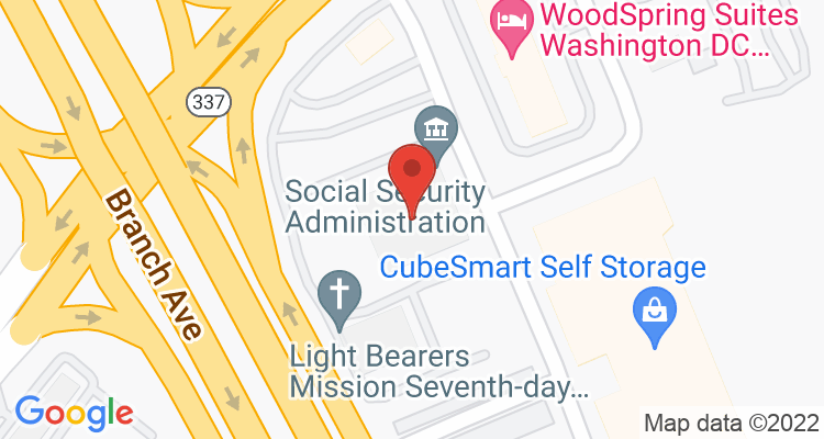 Suitland, MD Social Security Office Map