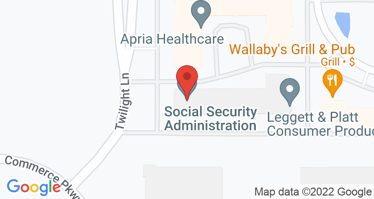 Lenexa, KS Social Security Office Map