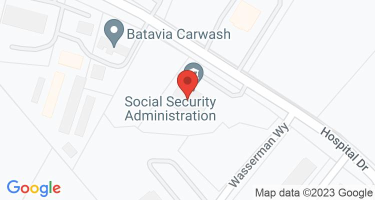 Batavia, OH Social Security Office Map