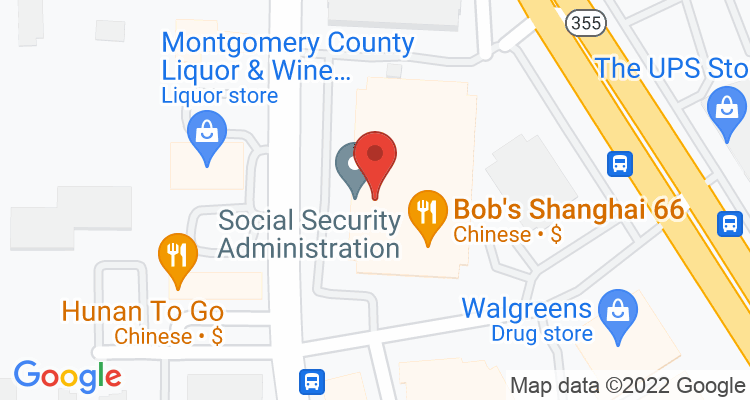 Rockville, MD Social Security Office Map