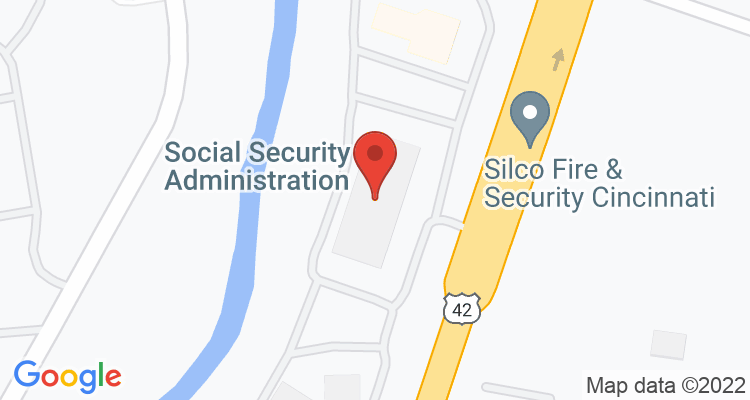 Cincinnati, OH Social Security Office Map