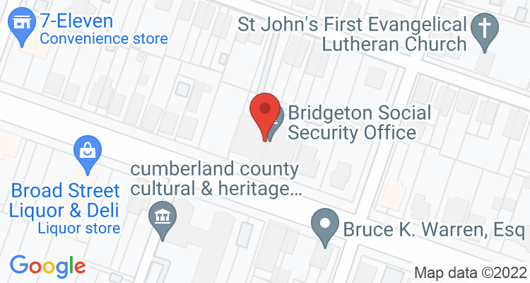 Bridgeton, NJ Social Security Office Map