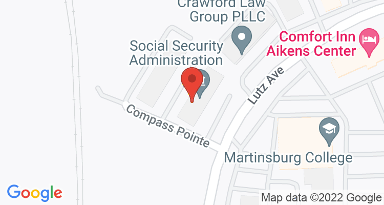 Martinsburg, WV Social Security Office Map