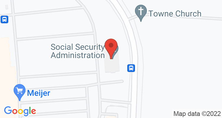 Franklin, OH Social Security Office Map