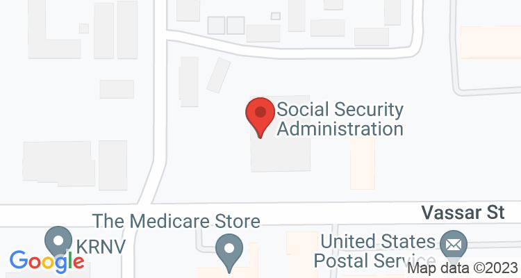 Reno, NV Social Security Office Map