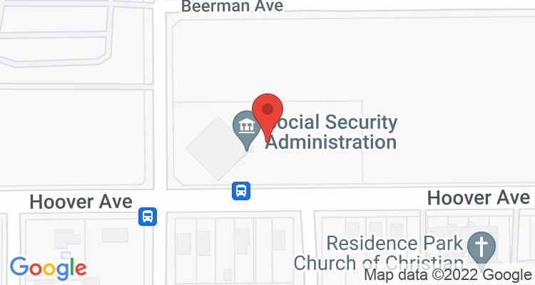 Dayton, OH Social Security Office Map