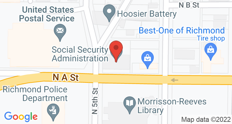 Richmond, IN Social Security Office Map