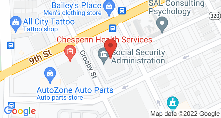 Chester, PA Social Security Office Map