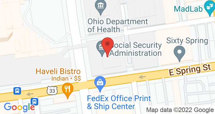 Columbus, OH Social Security Office Map