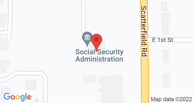 Anderson, IN Social Security Office Map