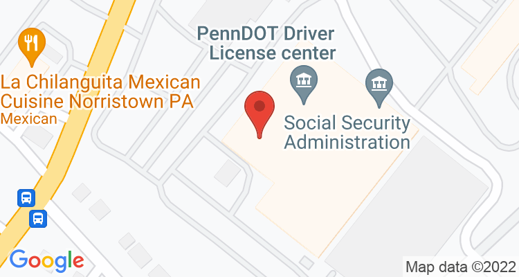 Norristown, PA Social Security Office Map