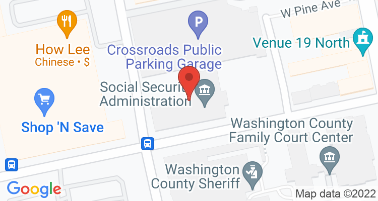 Washington, PA Social Security Office Map
