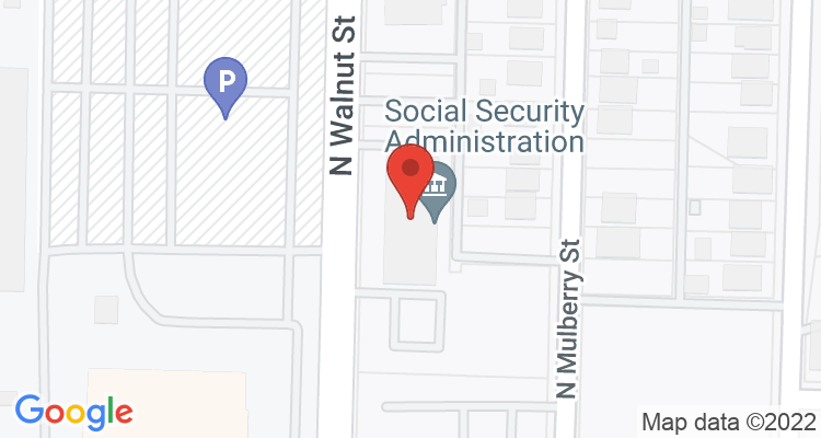 Muncie, IN Social Security Office Map
