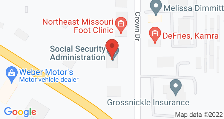 Kirksville, MO Social Security Office Map