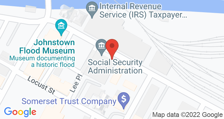 Johnstown, PA Social Security Office Map