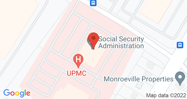 Monroeville, PA Social Security Office Map