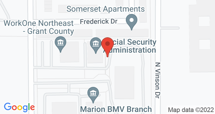 Marion, IN Social Security Office Map