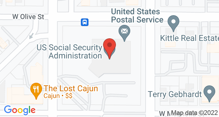 Ft Collins, CO Social Security Office Map